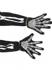 Childs Halloween Skeleton Gloves